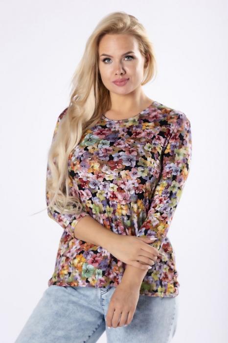 Bluza cu maneca lunga din vascoza - Bluze dama ieftine 2