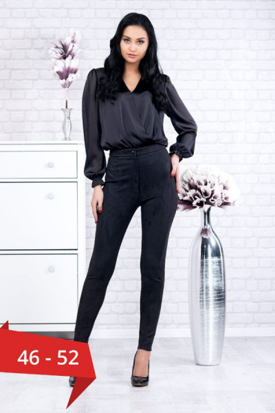 Bluza neagra tip body Eve - Bluze elegante marimi mari 0