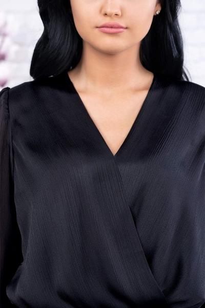 Bluza neagra tip body Eve - Bluze elegante marimi mari 2