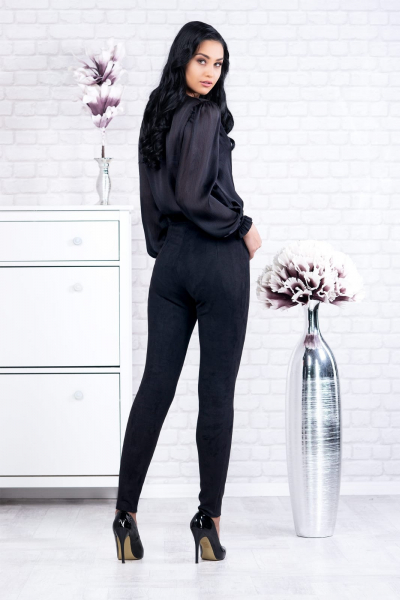 Bluza neagra tip body Eve - Bluze ieftine dama marimi mari 3