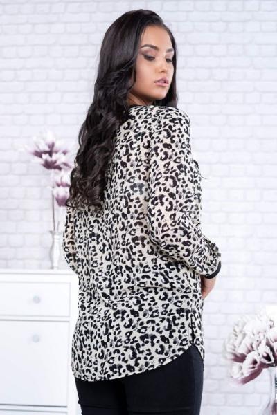 Bluze dama ieftine - Bluza voal eleganta animal print Catia 1