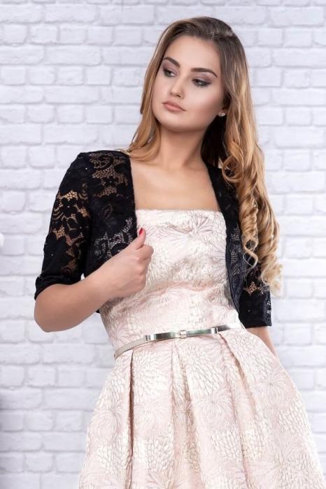 Bolero dama elegant marimi mari - Bolero dantela neagra 1