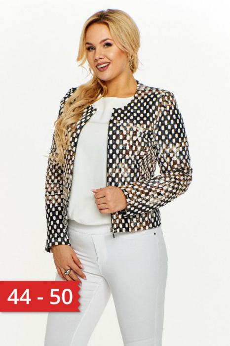 Jacheta de toamna pentru femei marimi mari multicolor 0
