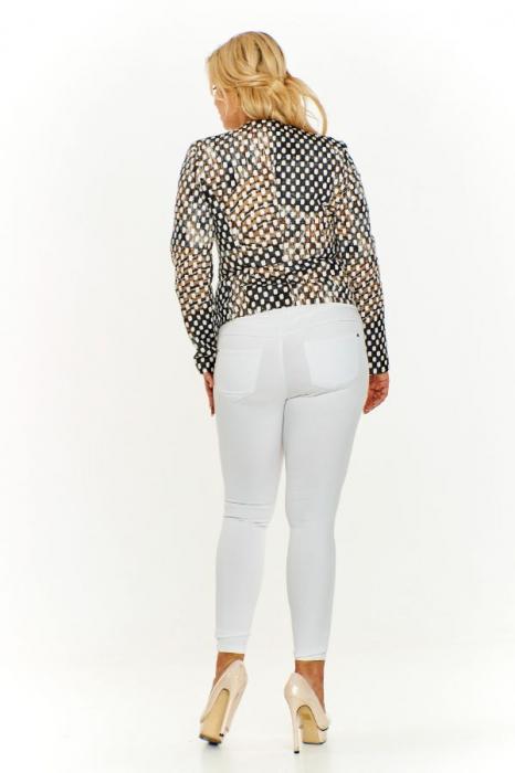 Jacheta de toamna pentru femei marimi mari multicolor 1
