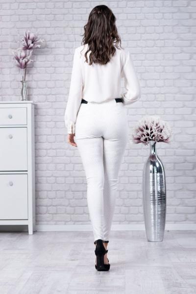 Pantaloni eleganti dama Vera - Pantaloni albi dama 2