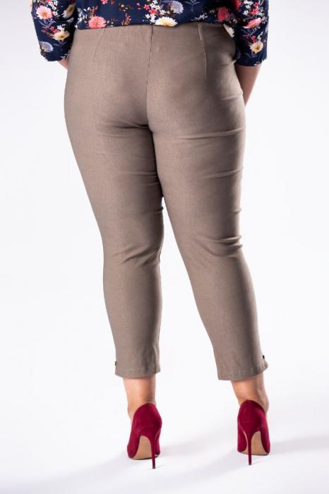 Pantaloni casual dama marimi mari bej - Polonia 1