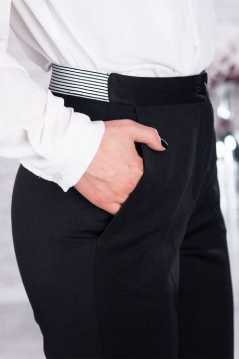Pantaloni dama marimi mari negru - Pantaloni eleganti dama 1