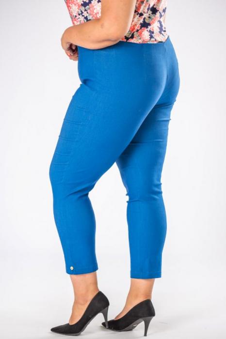 Pantaloni dama marimi mari albastru import Polonia 1