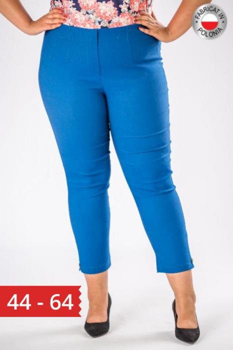 Pantaloni dama marimi mari albastru import Polonia 0