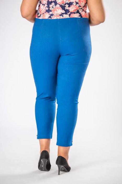 Pantaloni dama marimi mari albastru import Polonia 2