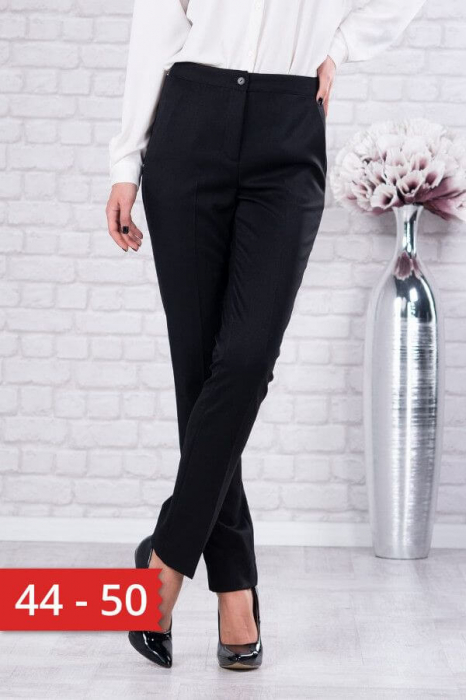 Pantaloni dama marimi mari negru - Pantaloni eleganti dama 0