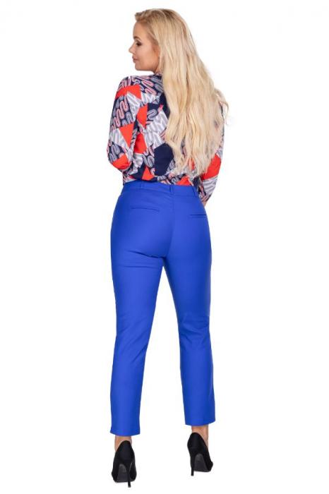 Pantaloni eleganti clasici cu croi conic, albastru 2