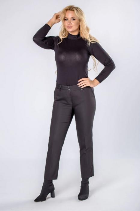 Pantaloni negri eleganti cu talie inalta 2