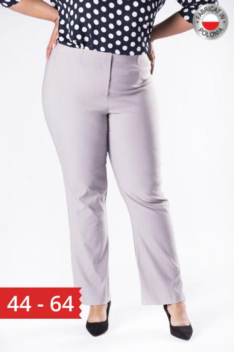 Pantaloni eleganti marimi mari gri import Polonia 0