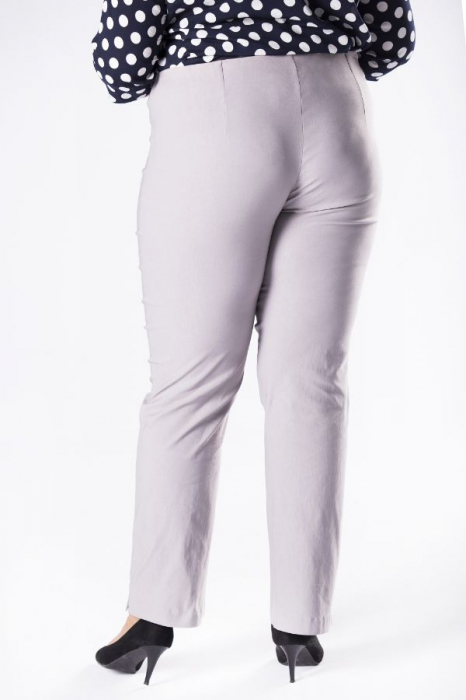 Pantaloni eleganti marimi mari gri import Polonia 1