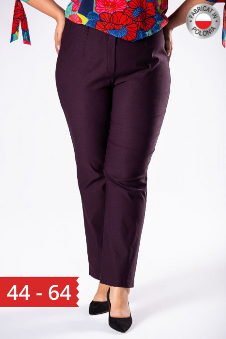 Pantaloni eleganti marimi mari mov import Polonia 0