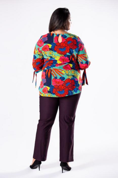 Pantaloni eleganti marimi mari mov import Polonia 2