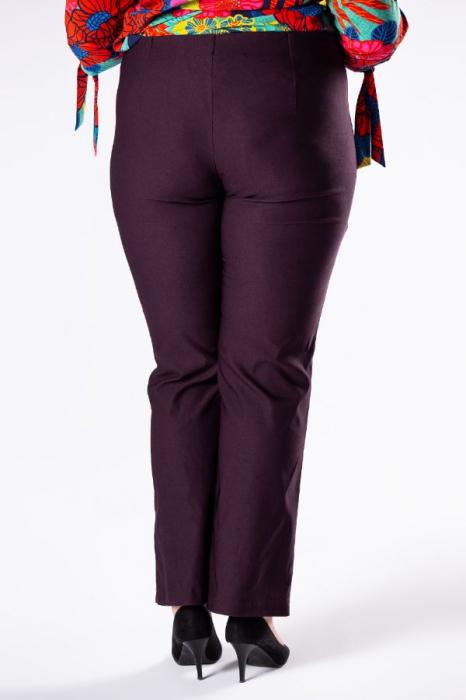 Pantaloni eleganti marimi mari mov import Polonia 1
