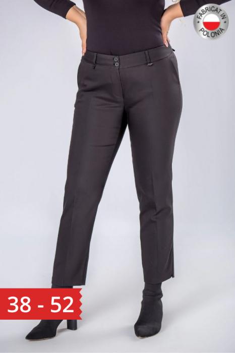 Pantaloni negri eleganti cu talie inalta 0