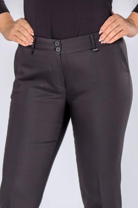 Pantaloni negri eleganti cu talie inalta 3