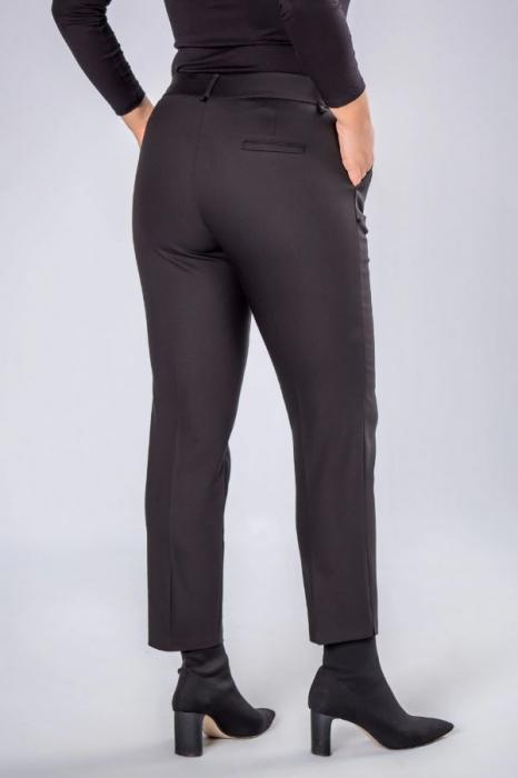 Pantaloni negri eleganti cu talie inalta 1