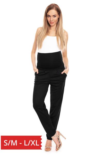 Pantaloni pentru gravide negru - Pantaloni conici gravide 0
