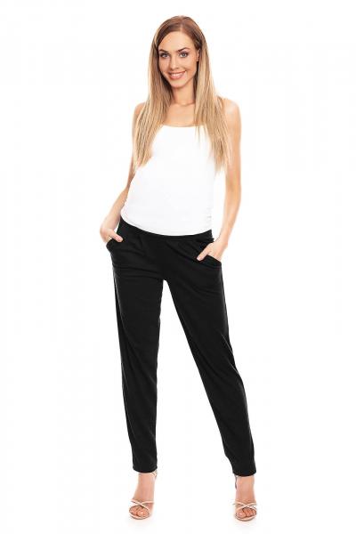 Pantaloni pentru gravide negru - Pantaloni conici gravide 4