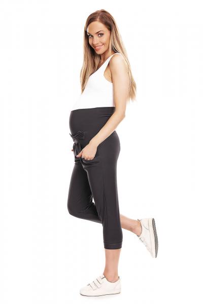 Pantaloni de vara gravide - Pantaloni trei sferturi pentru gravide 1
