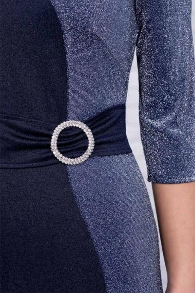 Rochii marimi mari - Rochie albastra eleganta Henrieta 3