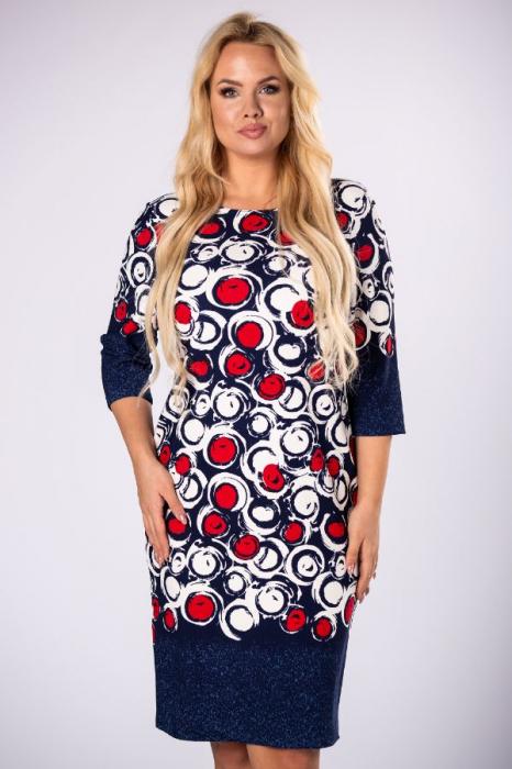 Rochie midi casual cu imprimeu multicolor 1