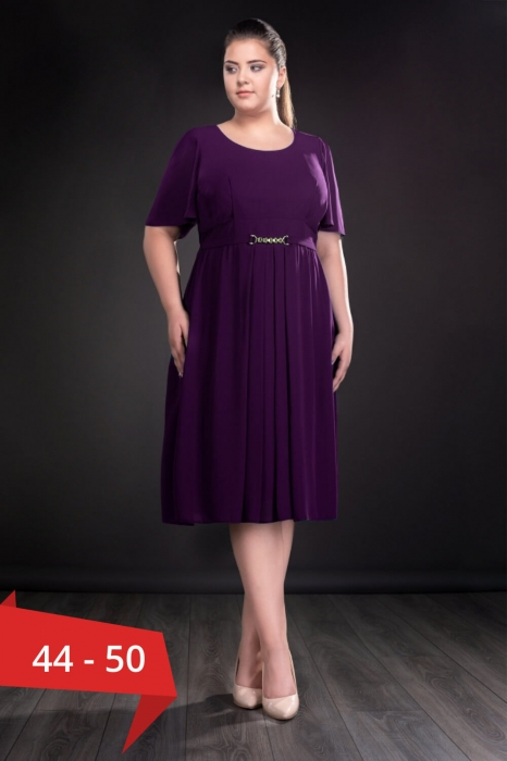 Rochii de seara doamne peste 50 ani - Rochie eleganta din voal Lucinda mov 0