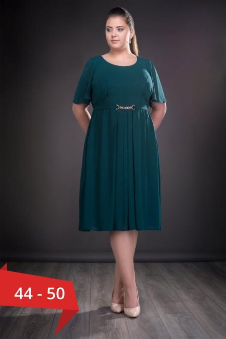 Rochii doamne 50 ani - Rochie verde din voal Lucinda 0