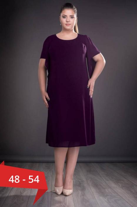 Rochii din voal - Rochii marimi mari pentru femei plinute Casiana mov 0