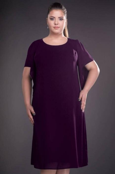 Rochii din voal - Rochii marimi mari pentru femei plinute Casiana mov 1