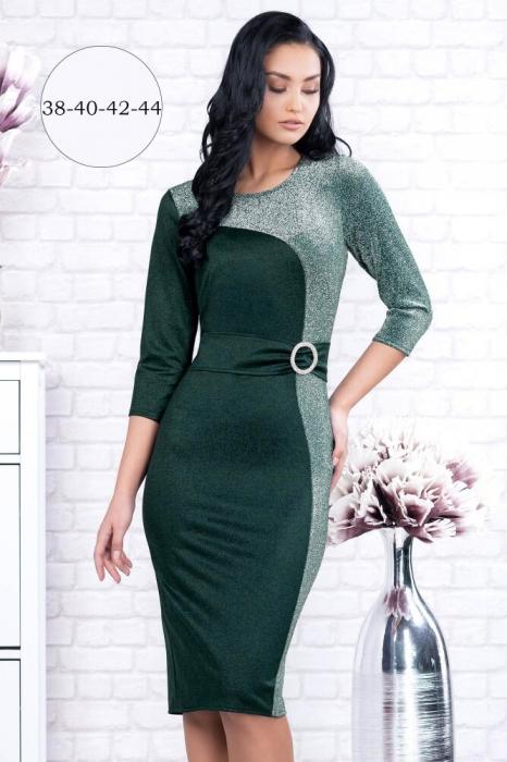 Rochii marimi mari - Rochie verde eleganta Henrieta 1