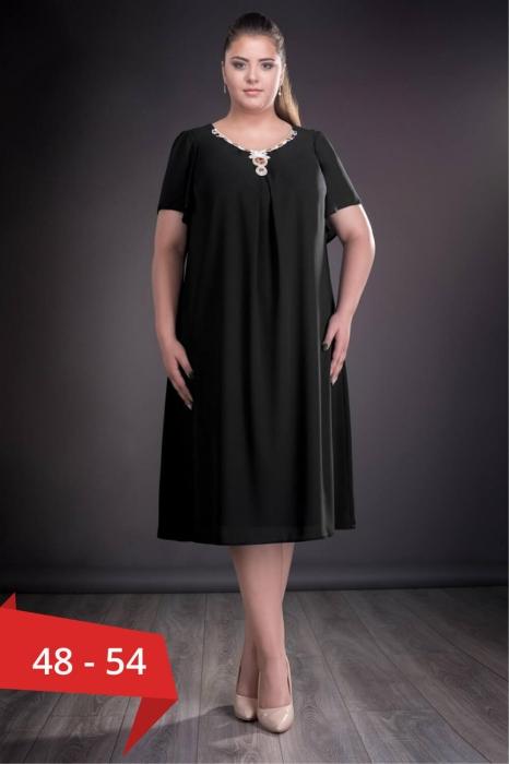 Rochii voal - Rochie neagra marimi mari Renata 0