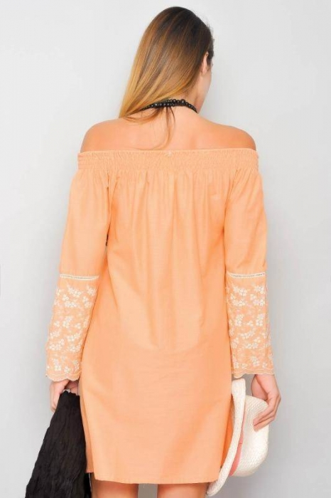 Rochie de vara din bumbac cu broderie HHG Spania, orange 1