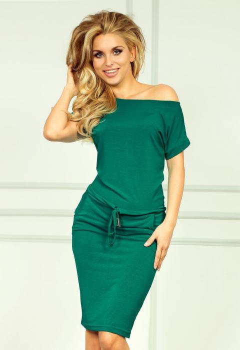 Rochie verde smarald cu buzunare - Rochii de vara sport 1
