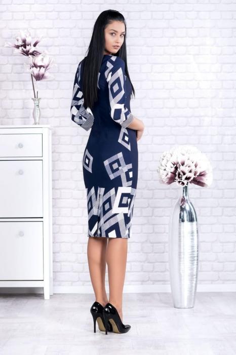 Rochie eleganta de zi marimi mari Samantha bleumarin 1