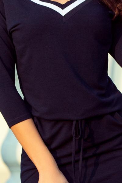 Rochie albastra sport casual cu buzunare Serena - Rochii sport dama 2