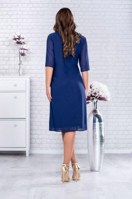 Rochie voal bleumarin pentru femei de 50 de ani - Marimi mari [2]
