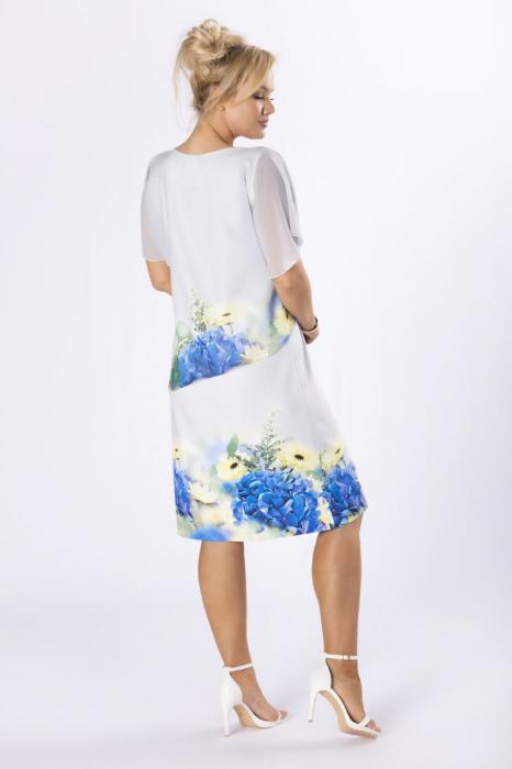 Rochie eleganta midi cu blazer si imprimeu floral - Marimi mari [1]