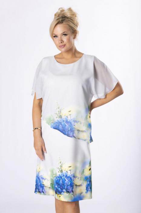 Rochie eleganta midi cu blazer si imprimeu floral - Marimi mari [3]