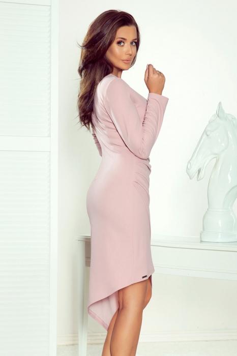 Rochii elegante de zi - Rochie eleganta asimetrica petrecuta Numoco lila 2