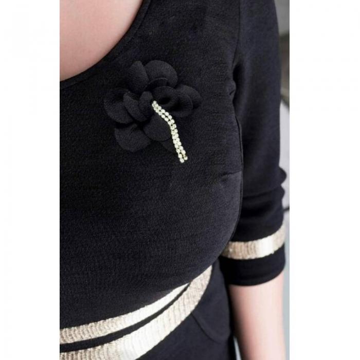 Rochii elegante de zi - Rochie eleganta marimi mari Aniela, negru 1