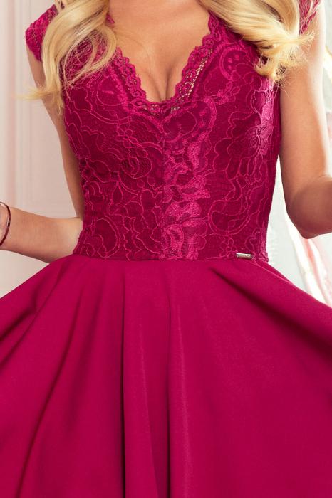 Rochii asimetrice - rochie grena de seara asimetrica Patricia 4