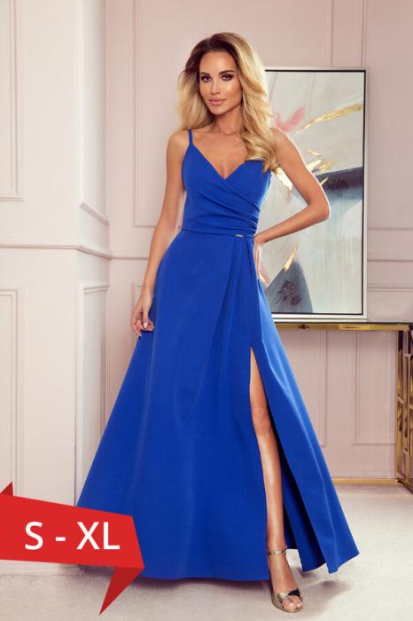 Rochie lunga de seara albastru - Rochii de seara lungi 0