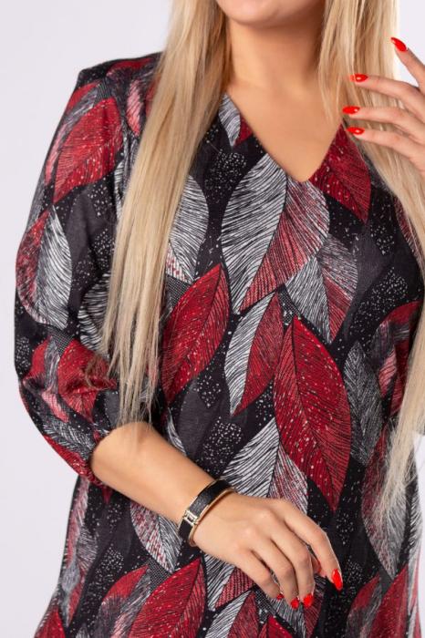Rochie midi casual cu imprimeu multicolor Polonia 3