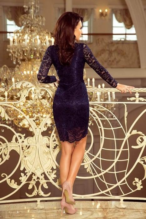 Rochii elegante din dantela - Rochie de ocazie din dantela Marina bleumarin 2