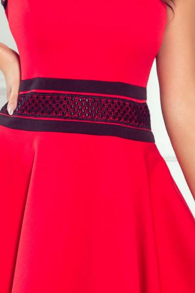 Rochie midi eleganta Rica - Rochii de seara midi rosii 2